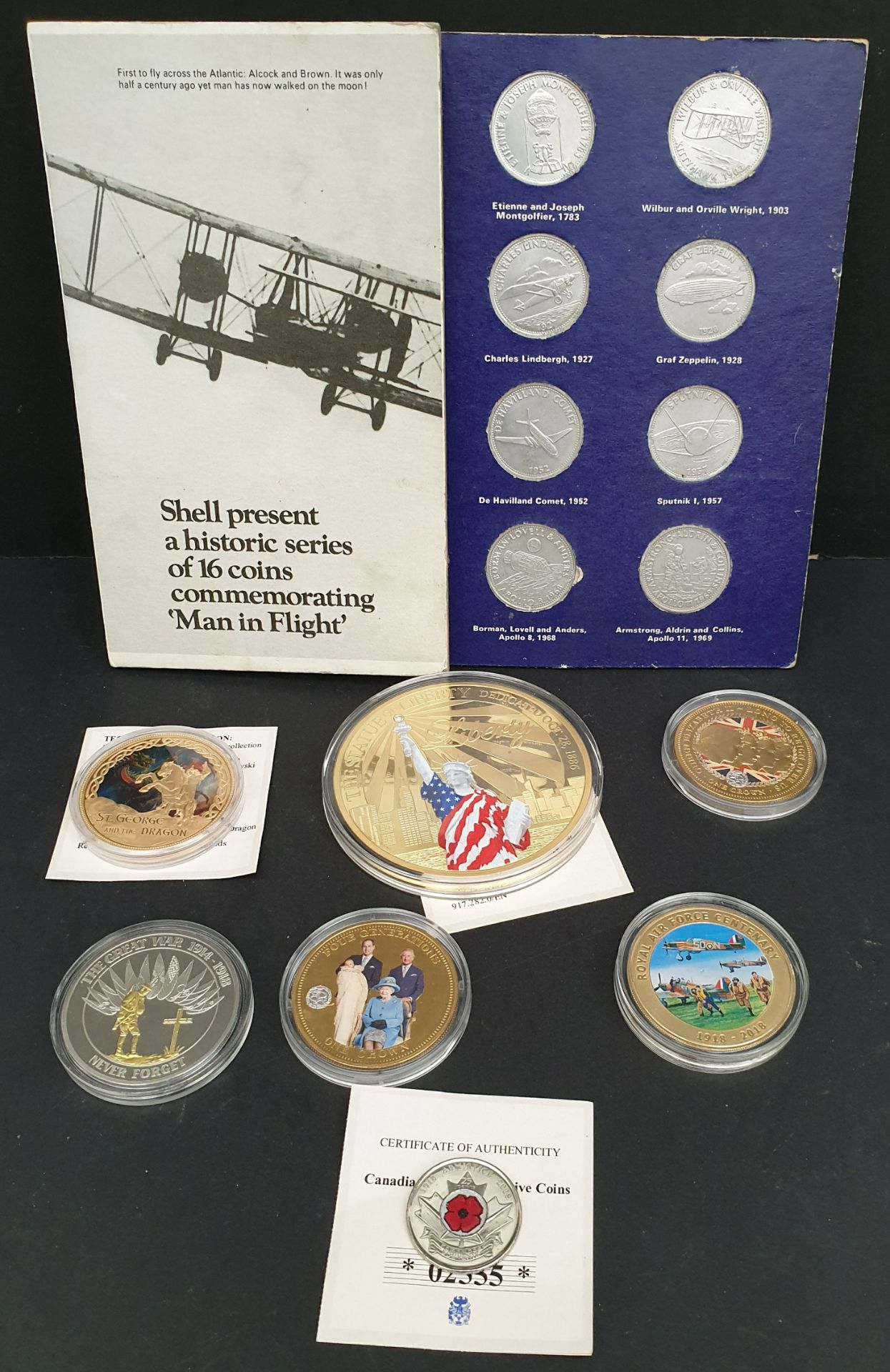 Lot 6 - Collectable Coins Parcel of 7 Plus Shell Flight Coins