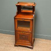 Victorian Walnut Antique Side Cabinet