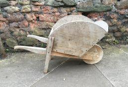 C19th Childs elm wheelbarrow