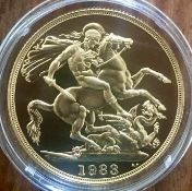 1983 Gold Proof Double Sovereign