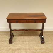 Quality Victorian Figured Mahogany Antique Writing Table / Library Table