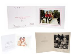 2 X Princess Diana & Prince Philip Hand Signed + 2 x Queen Elizabeth & Prince Philip Signed Cards