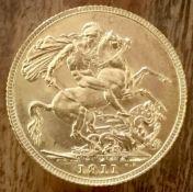1911C Gold Sovereign, Ottawa Mint