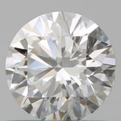 GIA CERT 0.70 CTW ROUND DIAMOND HIF
