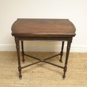 Quality Walnut Edwardian Antique Card Table – Games Table