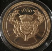 1986 22k Gold Proof Double Sovereign