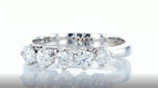 14 kt. White gold - Ring - Diamonds