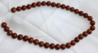 Red Jasper Round 10 mm drilled 38 Cm strand