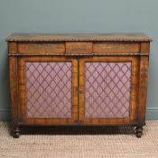 Spectacular Warm Rosewood Antique Cabinet with Brass Inlay
