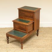 Victorian Mahogany Antique Library Steps