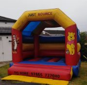 Funfair fairground bouncy castle 15ft by 17ft with blower and pegs