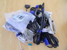 Mix of cables PC, VGA, PS2, KVM etc