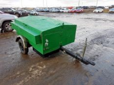 Pin hitch car trailer van with lift up storage and generator 6kva