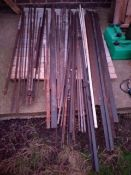 Quantity of various new steel sizes and shapes unused fabricated