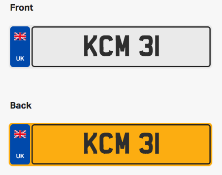 KCM 31. Private vehicle registration number plate, ready to transfer to new owner