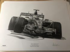 Alan Stammers Signed Artist Proof of Lewis Hamilton