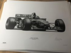 Alan Stammers Signed Limited Edition Print of David Coulthard