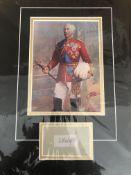 Garnet Wolseley, 1St Vicount Wolseley Mounted Signature.