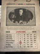 1918 German Crimes Calendar