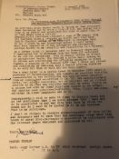 Professor Trevor Thomas hand sketches and correspondence RE: Poet Sylvia Plath