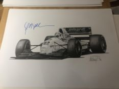 Alan Stammers and Christian Fittipaldi signed limited edition print