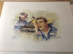 Craig Warwick and Nigel Mansell signed limited edition print