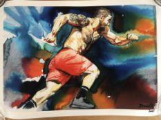 David Roman signed print of Matt Fraser.