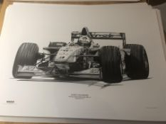 Alan Stammers Print of David Coulthard