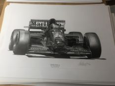 Alan Stammers Signed Limited Edition Print of Gerhard Berger