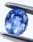 IGI Certified 2.64 ct. Blue Sapphire SRI LANKA, CEYLON