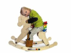 Toddlers Rocking Horse. Wooden. Brand New. 60cm high. RRP. £124.99. no vat on hammer.You will get