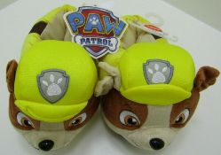 16 pairs of Paw Patrol Rubble 3D Slippers. Toddler size. Official Nickelodeon. UK 13-1.5 no vat on
