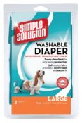 6 x Large Dog Nappy, WashabIe, Incontinence, Female in Heat no vat on hammer.You will get 6 packs.