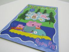 15 x Peppa Pig Sticker Pad. RRP £3.99 no vat on hammer.You will get 15 of these.Over 30 Stickers