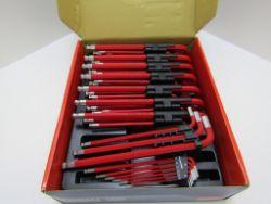 8 x Ball End Hex Key Set. 9pc Anti Slip, Extra Long, Metric. 1.5mm-10mmno vat on hammer.You will
