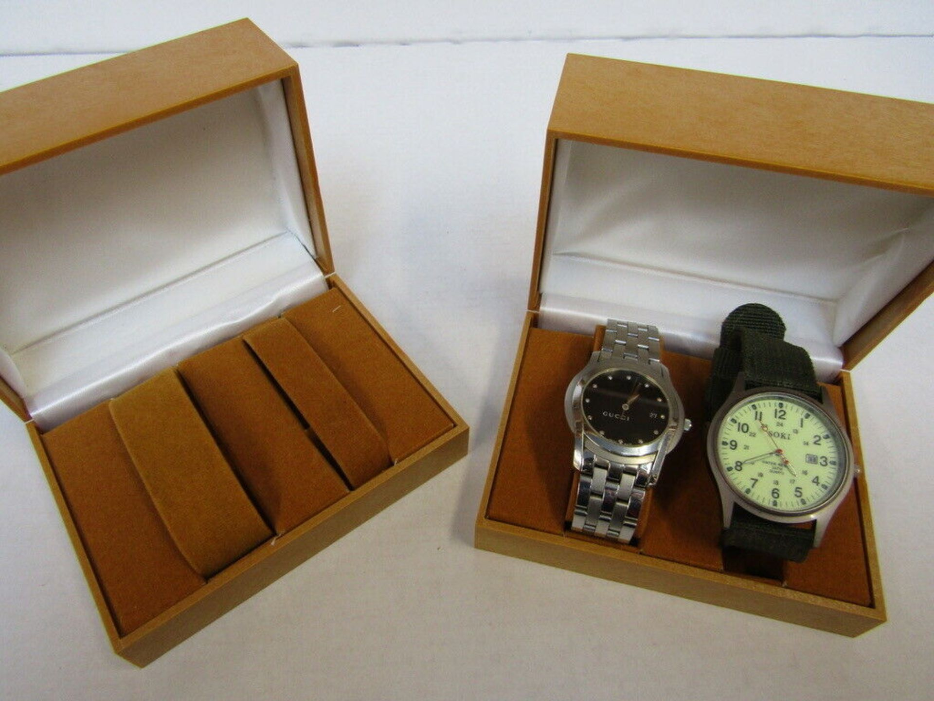Lot 59 - 20 x Watch & Jewellery Box.no vat on hammer.You will get 20 of these.Please note, the watches in