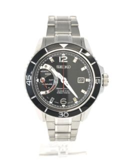 Mens Seiko Sportura Direct Drive Kinetic Watch SRG019P1