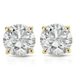 1.40 ctw diamond earings 14kt yellow gold