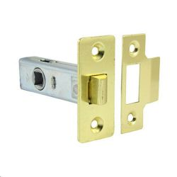 10x Tubular Mortise Latch Brass- 63mm