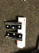 5x Pairs Of Exel 3x 2 2mm Polished Chrome Hinges With Screws