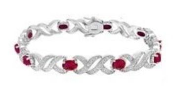 Ruby & Diamond Tennis Bracelet