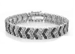 Black & White Diamond Chevron Bracelet