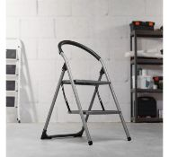 (K6) Premium 2 Step Ladder Distributes weight evenly for total stability Anti-slip steps and ...