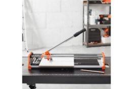 V78) Manual Tile Cutter 430mm Make precise diagonal and straight cuts into floor and wall tiles...
