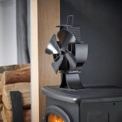 (S76) 4 Blade Stove Fan Heat powered stove fan – economically increases the efficiency of yo...