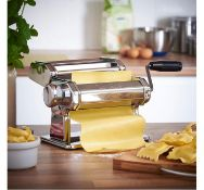(X36) Manual Pasta Machine. Fully and easily adjustable for different thickness of pasta as wel...