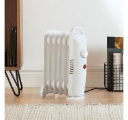 (X34) 6 Fin 800W Oil Filled Radiator - White. Compact yet powerful 800W radiator with 6 oil-fil...