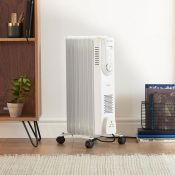 (NN77) 7 Fin 1500W Oil Filled Radiator - White Powerful 1500W radiator with 7 oil-filled fins ...