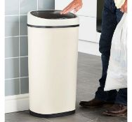 (K8) 50L Sensor Bin – Cream Innovative, hygienic and convenient! LED Infrared Sensor opens a...
