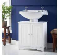 (X19) Colonial Under Basin Cabinet. MDF with chrome handles Water resistant & easy to clean S...
